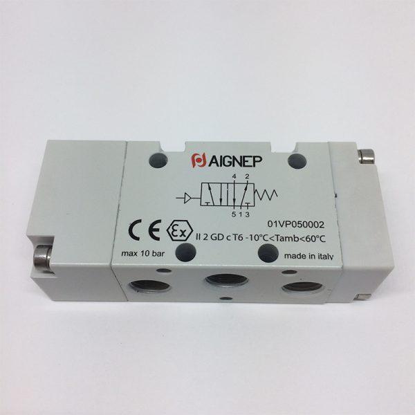 Válvula 5V/2P monoestable accionamiento neumático Aignep