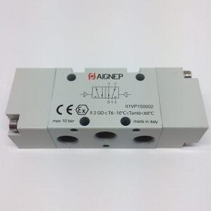 Válvula 5V/2P biestable accionamiento neumático Aignep